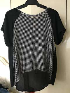 Forever21 Checkered Sheer Top