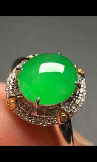 Jade翡翠A貨18K金鑲嵌戒指Ring