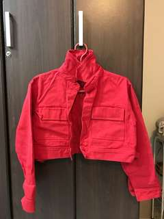 Cropped jacket / red jacket