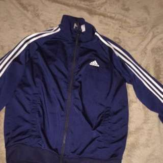 Navy Blue Adidas Zip Up
