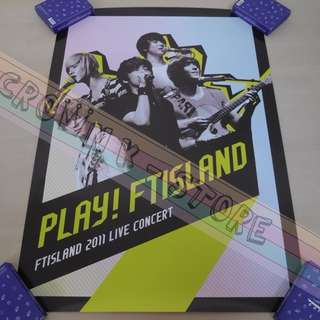 [CRAZY DEAL 90% OFF FROM ORIGINAL PRICE][READY STOCK]FTISLAND F.T ISLAND KOREA OFFICIAL POSTER!!NEW! OFFICIAL ORIGINAL FROM KOREA (SELAED) (PRICE NOT INCLUDE POSTAGE) SHIP USING TUBE