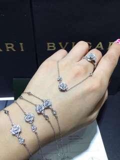 伯爵 Piaget Rose 立體小玫瑰花鑽石手鏈
