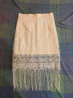 Summer skirt / bohemian skirt / lace skirt / white skirt