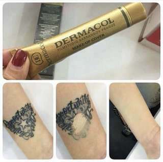 💄❤️ Dermacol waterproof make up cover concealer foundation for freckles, acne, scars, tattoo