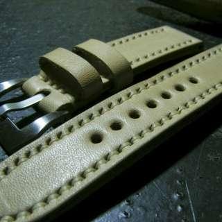 Handmade leather Watch strap tali jam tangan kulit costum