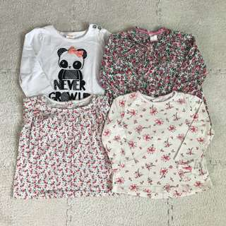 Branded Tops for girls 9-12mos