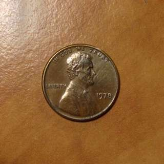 Lincoln Memorial 1 cent 1978 copper penny