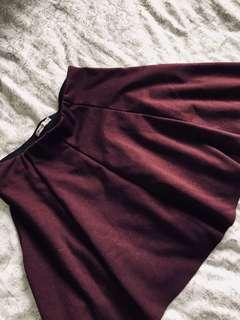 Brandy Melville Skirt (Burgundy)