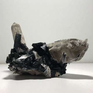 Collectible Black Tourmaline associated with Quartz Points