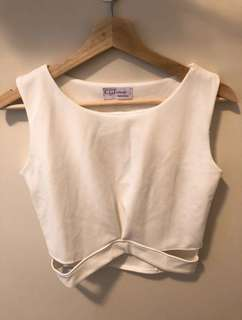 Korean cut out cropped top