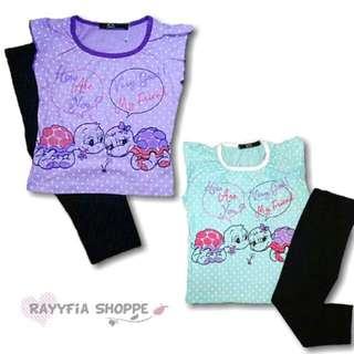 Kids Girls Top with Leggings Set (2y, 3y)