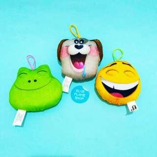 happy meal plushie boneka emoji movie
