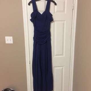 BCBG Maxazria Royal Blue Gown