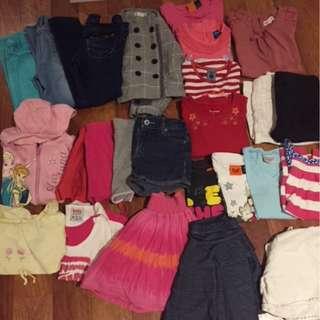Sz 4 girls' clothing bundle