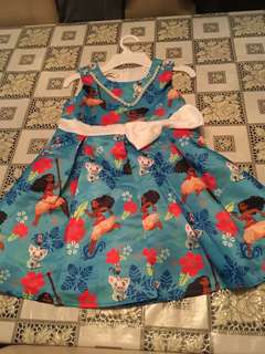 Moana dress - size 3-9