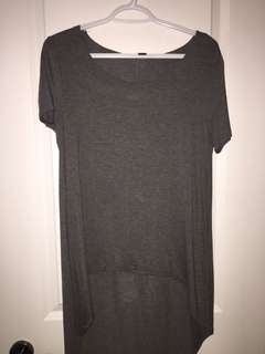 Forever 21 - high low basic grey t-shirt
