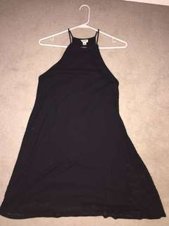Garage black skater dress