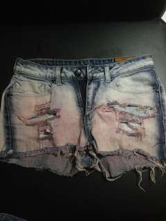 Overhauled Jeans Shorts