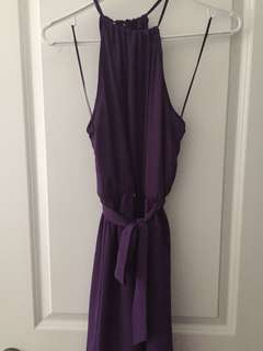 Dynamite purple tie dress