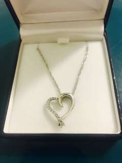Salera's Heart diamond necklace