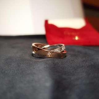 Cartier Leve Ring Diamond Paved