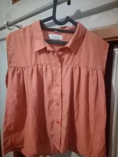 Peach Sleeveless Shirt