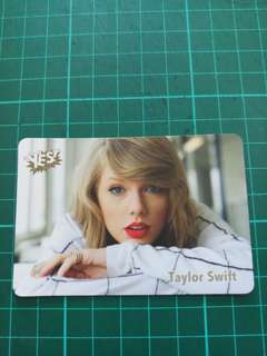 Taylor Swift Yes card