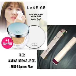 LANEIGE BB CUSHION WHITENING BEST SELLER FREE LIPSTICK LANEIGE