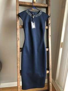BNWT Ted Baker Dress Midi Size 0
