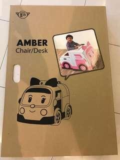 BNIB Robocar Amber desk / table / chair for kids / children