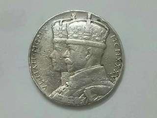 ♤Medal♤ GB George V Silver Jubilee Medallion.
