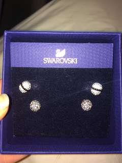 4 Swarovski earrings