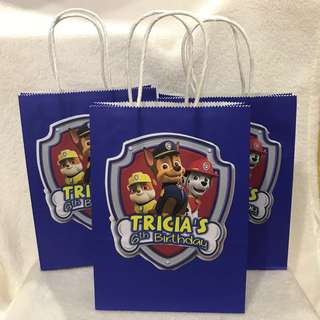 customize goodie bag / party bag / door gift / goodie box - Paw patrol