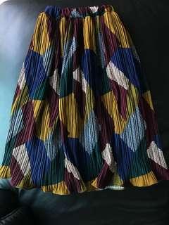 🚚 超美復古中長百褶裙