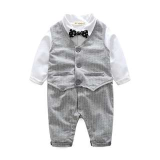 Little Gentleman Two Piece Baby Romper