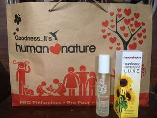 Human Nature sunflower beauty oil luxe