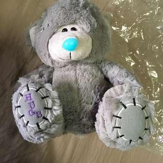 BN cuddly grey furred teddy bear soft toy