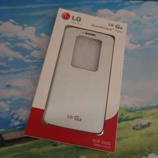 LG G2 Quick Window Case - White