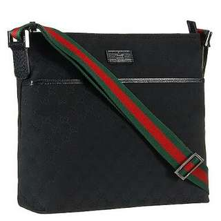 Gucci Web Band Black Messenger Bag