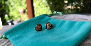 """Return to"" earrings rose gold"