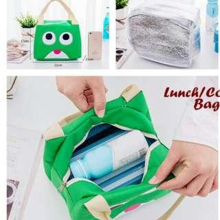 Lunch Cooler Bag - Karakter Kodok & Emoticon