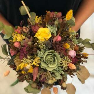Wedding Bouquet With Preserved Flowers