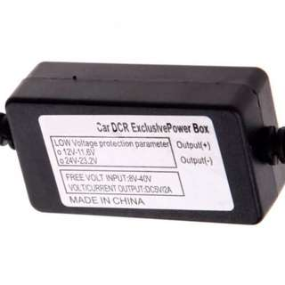 24 Hours Parking Mode Car Camera Voltage Protector - Hidden Wiring Direct to Fuse Box/Battery Power