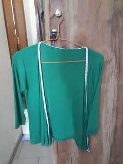 Outer cardigan hijau