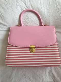 Pink & White Handbag