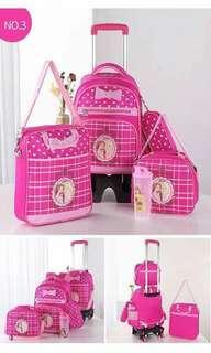 5 in 1 Kids Character Trolley School Bag - DISNEY PRINCESS