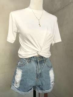 🍀Twisted knot top white