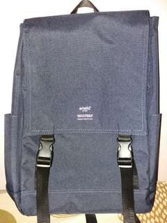 Anello Flap Backpack Navy Blue (Journaling Bag)