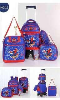 5 in 1 Kids Character Trolley School Bag - SPIDERMAN 2