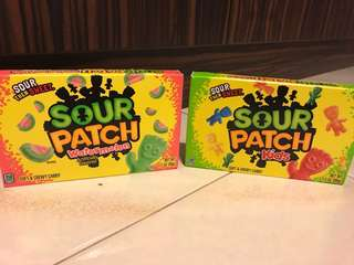 Sour patch - theatre pack sizes